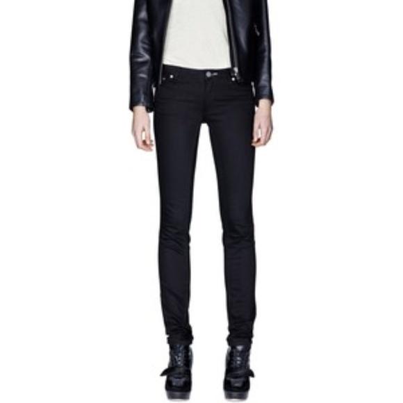 acne kex wet black jeans